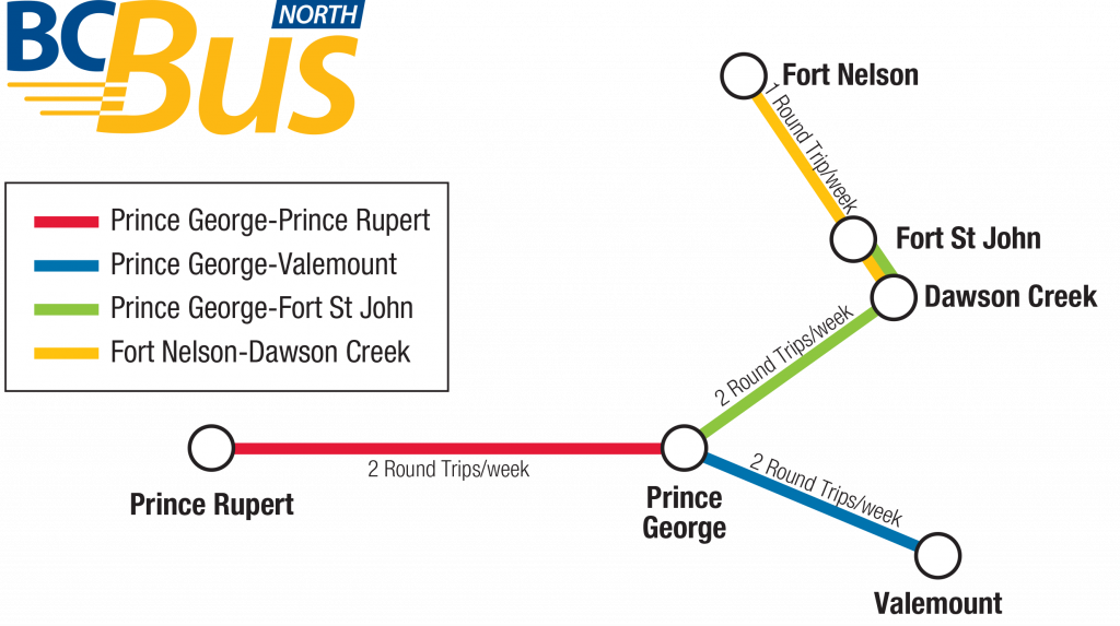 Prince George Prince Rupert Bus Route Map