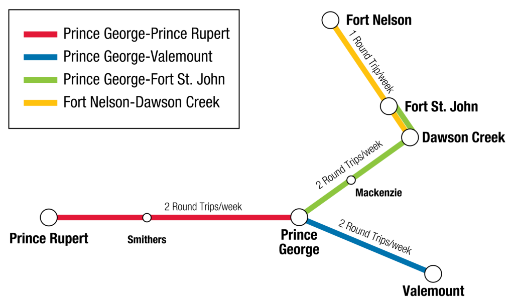 BC Bus North route map and locations